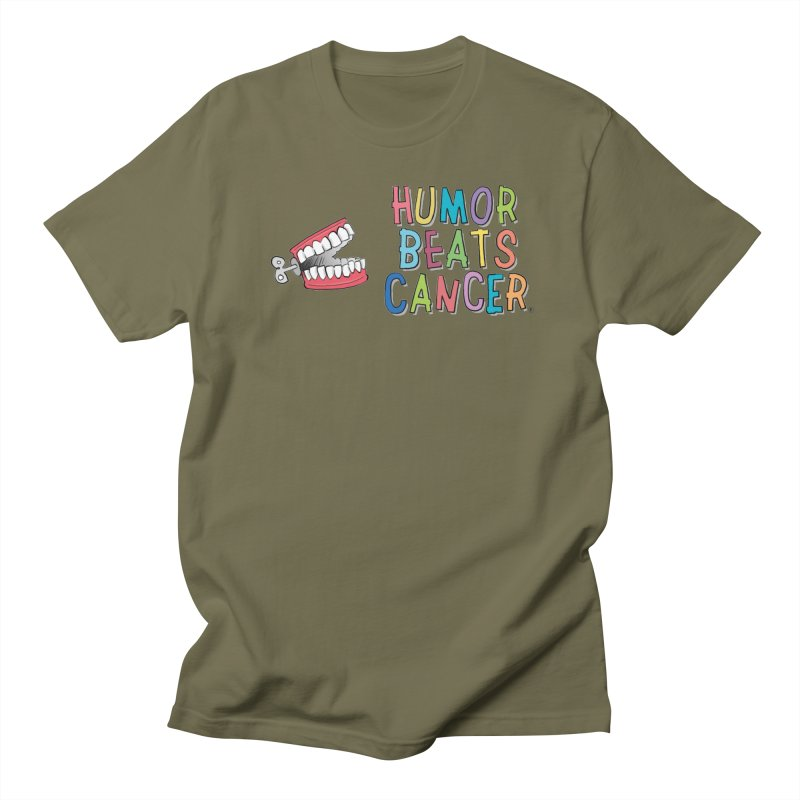 Humor Beats Cancer Men's Regular T-Shirt by Humor Beats Cancer's Artist Shop