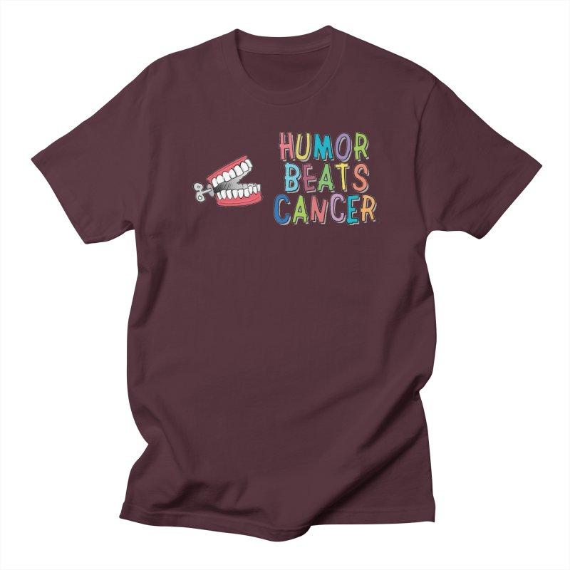 Humor Beats Cancer Women's Regular Unisex T-Shirt by Humor Beats Cancer's Artist Shop