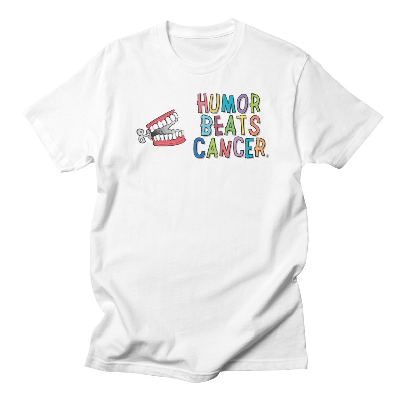 Humor Beats Cancer in Men's Regular T-Shirt White by Humor Beats Cancer's Artist Shop
