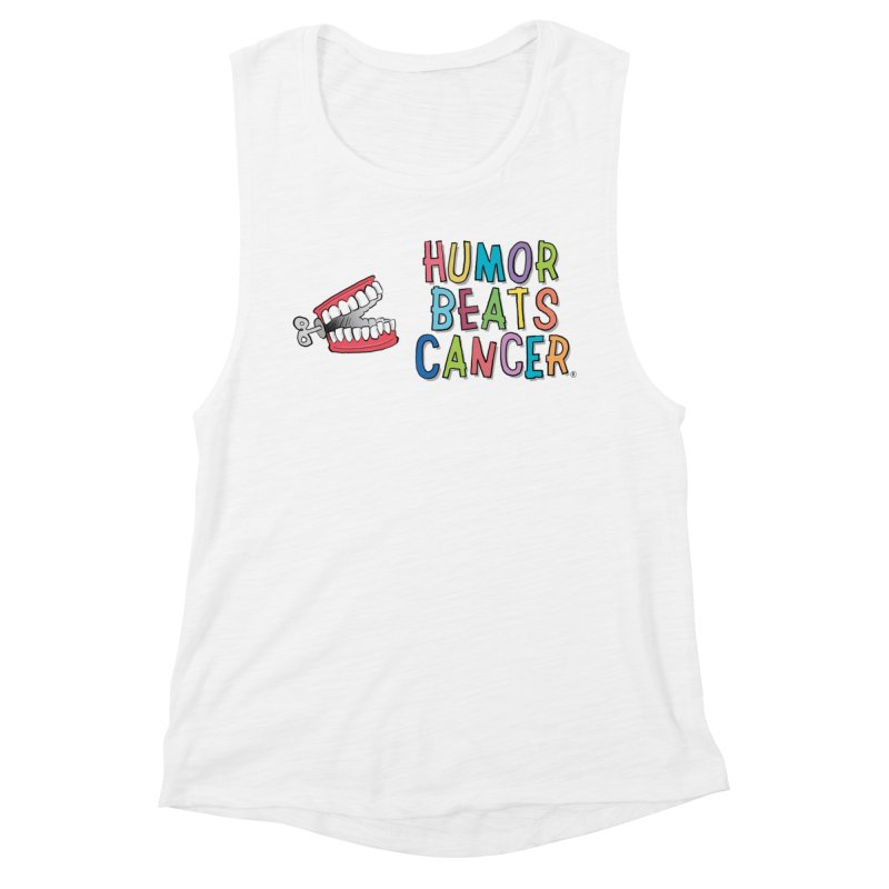 Humor Beats Cancer Women's Muscle Tank by Humor Beats Cancer's Artist Shop