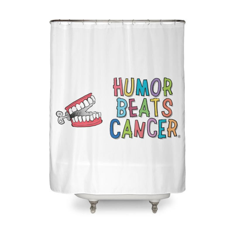 Humor Beats Cancer Home Shower Curtain by Humor Beats Cancer's Artist Shop