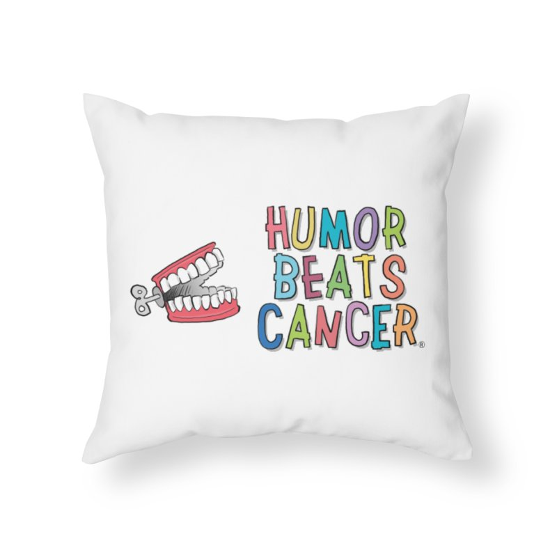 Humor Beats Cancer Home Throw Pillow by Humor Beats Cancer's Artist Shop