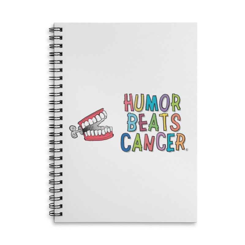 Humor Beats Cancer Accessories Lined Spiral Notebook by Humor Beats Cancer's Artist Shop