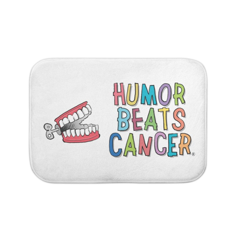 Humor Beats Cancer Home Bath Mat by Humor Beats Cancer's Artist Shop