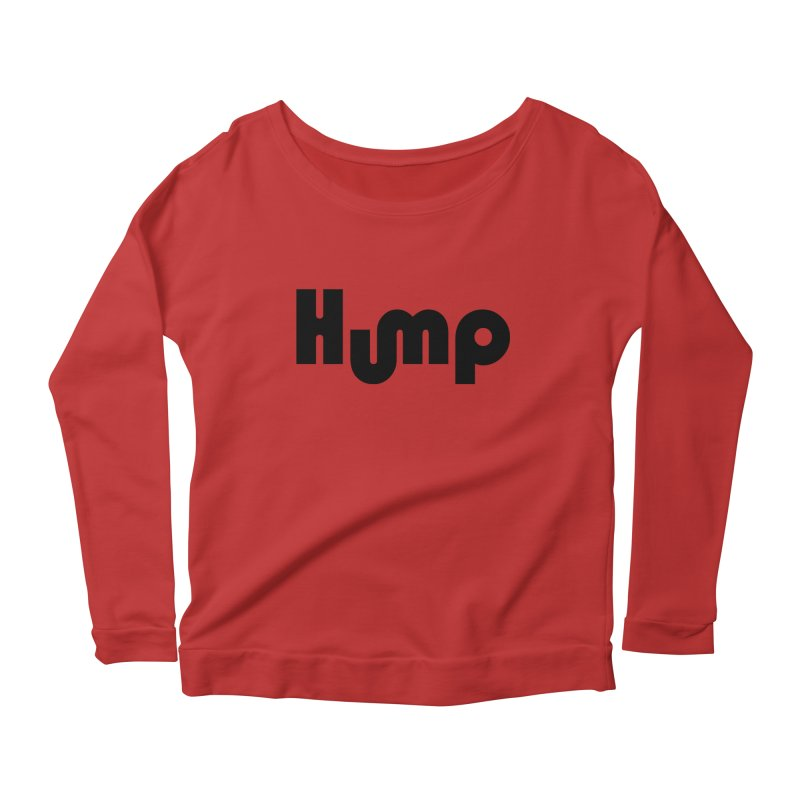 Hump Logo Women's Longsleeve Scoopneck  by Hump