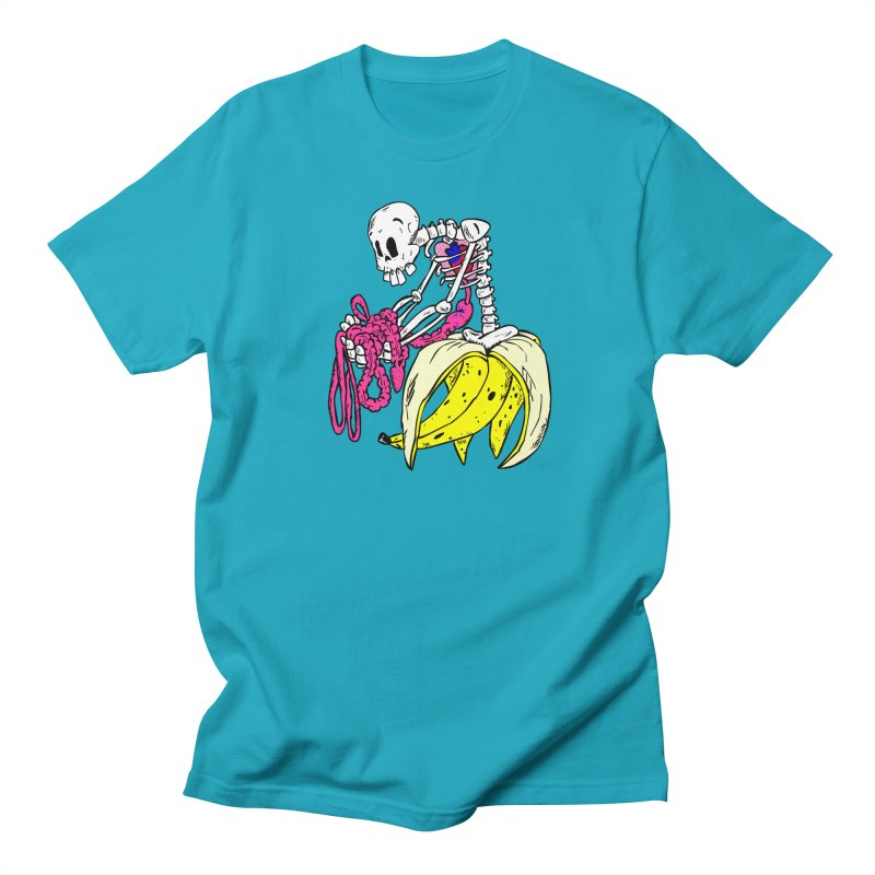 Banana Bones in Men's T-shirt Cyan by Hump