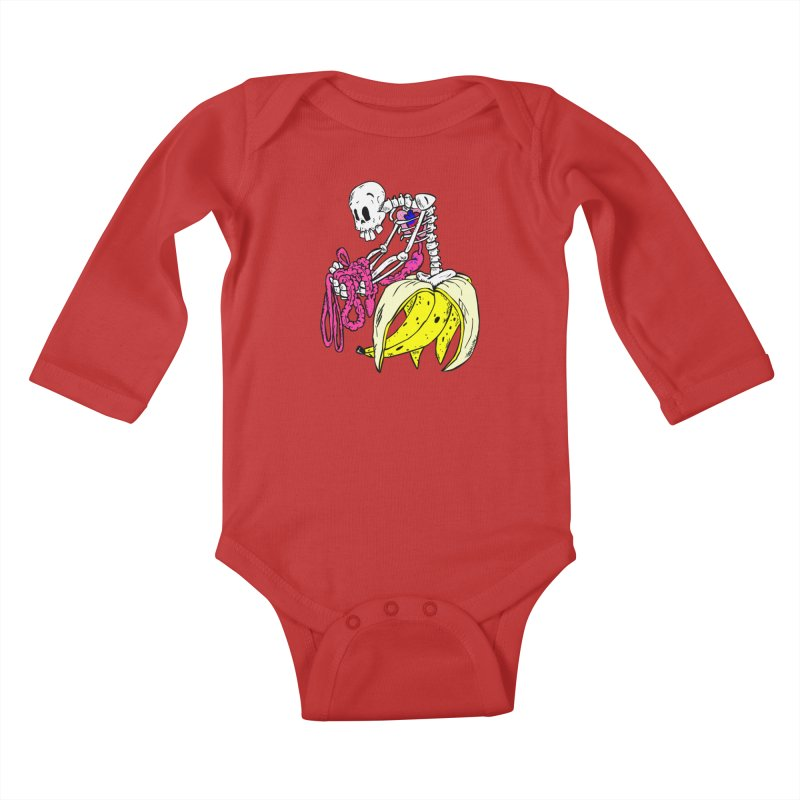 Banana Bones Kids Baby Longsleeve Bodysuit by Hump
