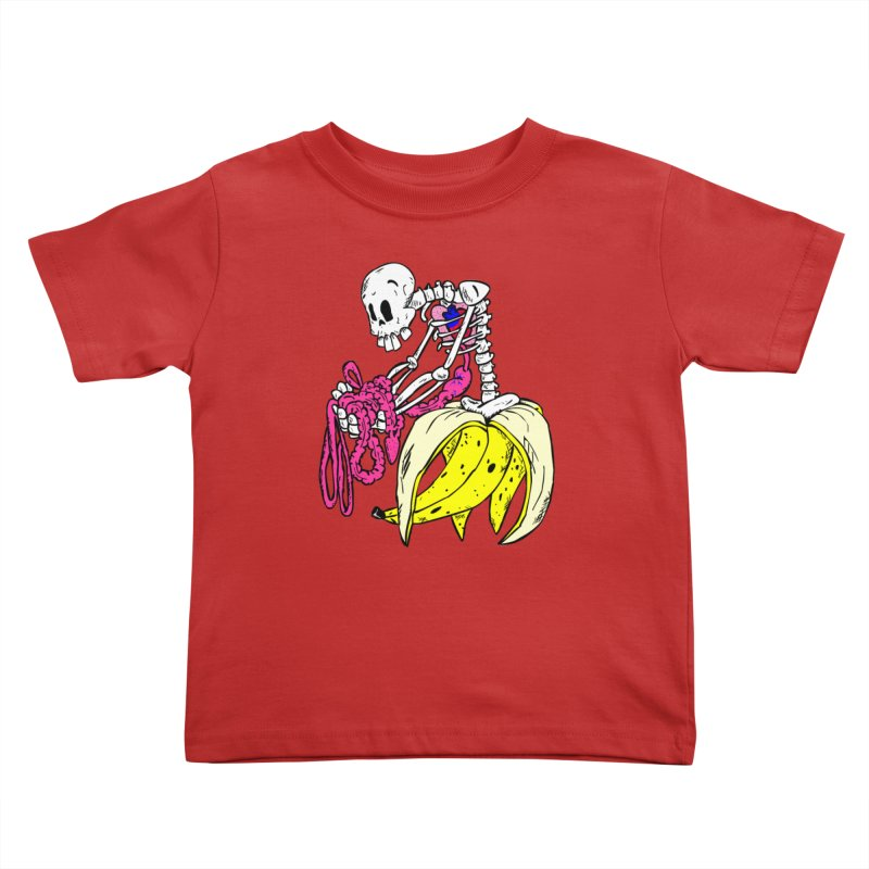 Banana Bones Kids Toddler T-Shirt by Hump