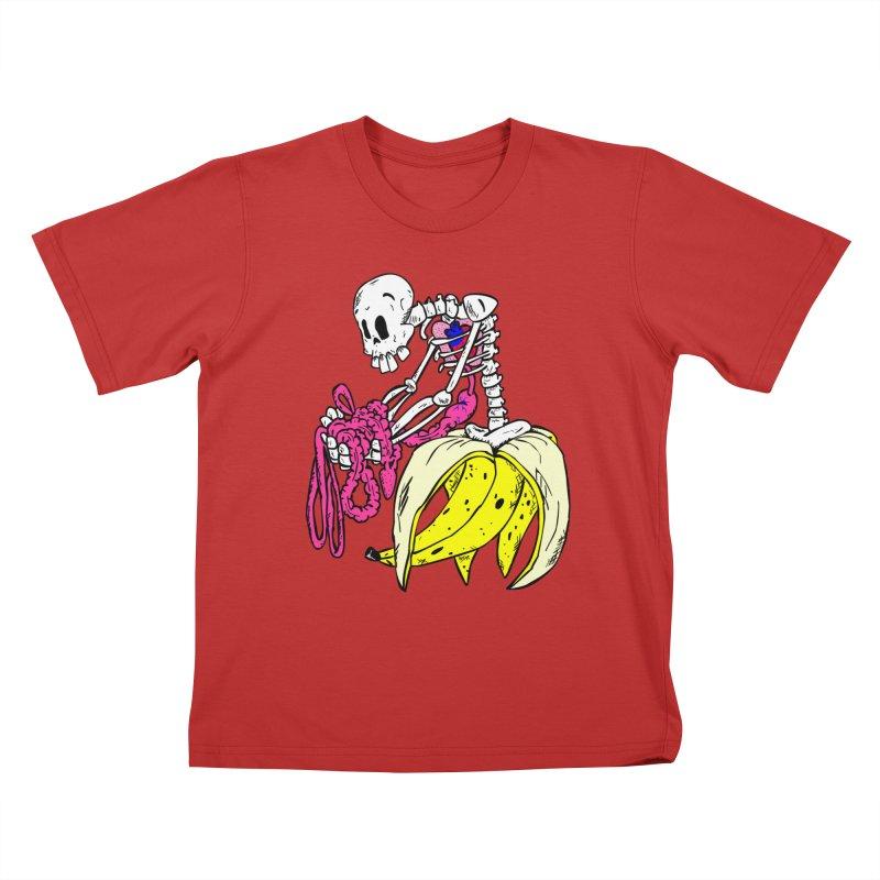 Banana Bones Kids T-Shirt by Hump