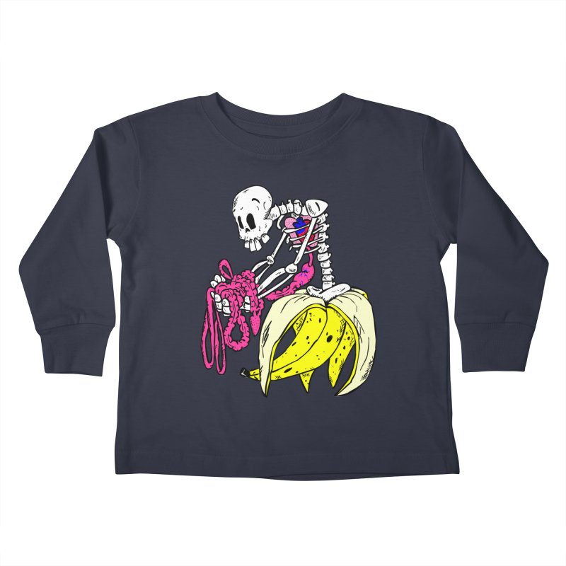 Banana Bones Kids Toddler Longsleeve T-Shirt by Hump