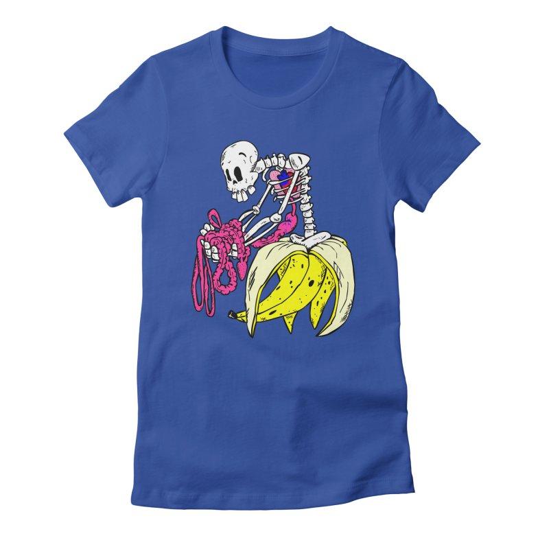 Banana Bones Women's Fitted T-Shirt by Hump