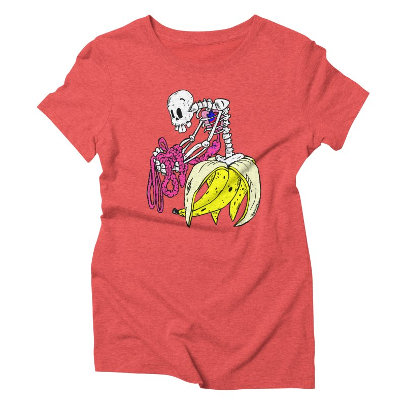 Banana Bones Women's Triblend T-shirt by Hump