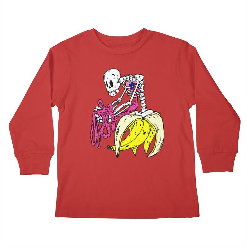 Banana Bones Kids Longsleeve T-Shirt by Hump