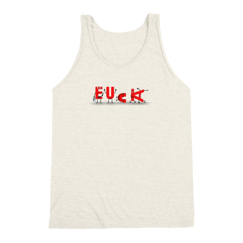Foul Vowels Men's Triblend Tank by Hump