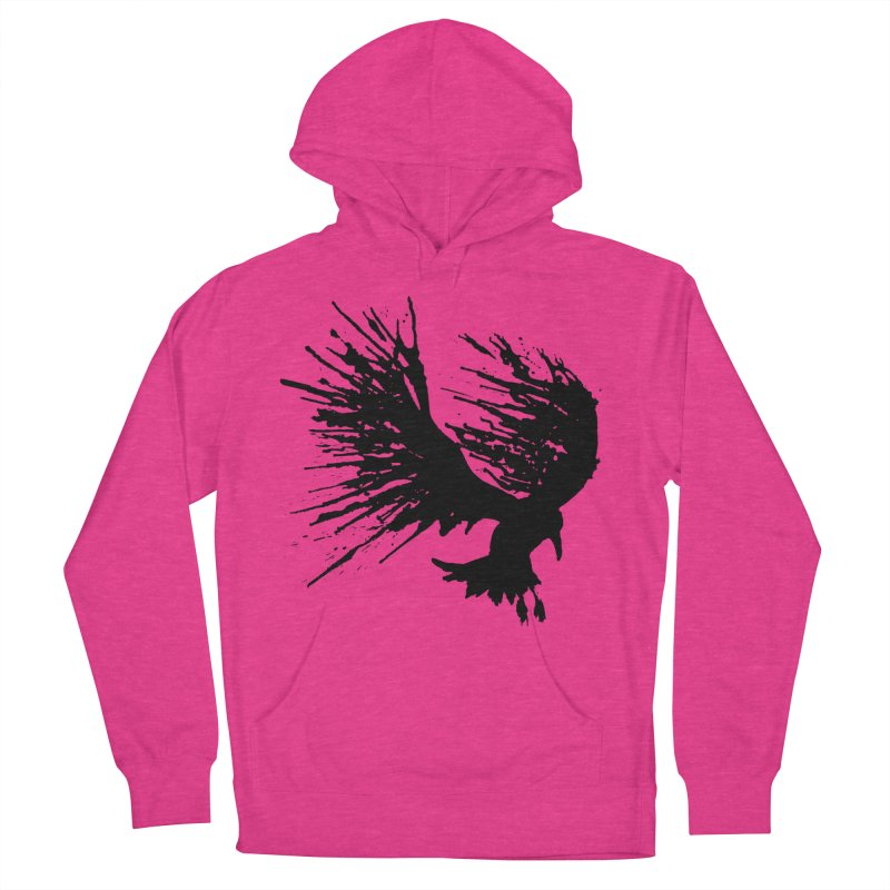 Bird Splatter Black Women's Pullover Hoody by Hump