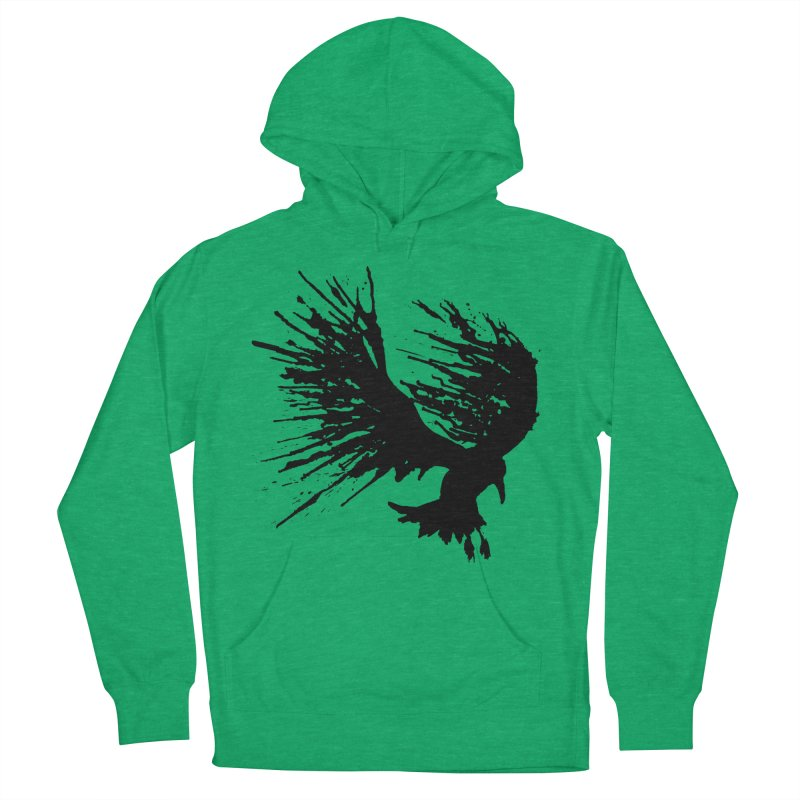 Bird Splatter Black Men's Pullover Hoody by Hump