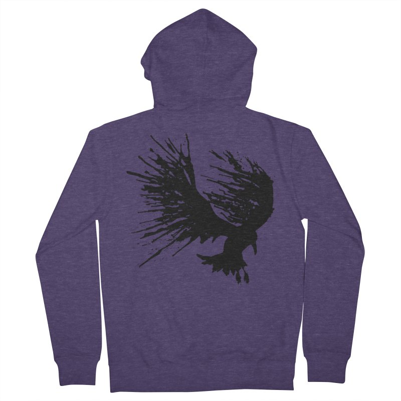 Bird Splatter Black Men's Zip-Up Hoody by Hump