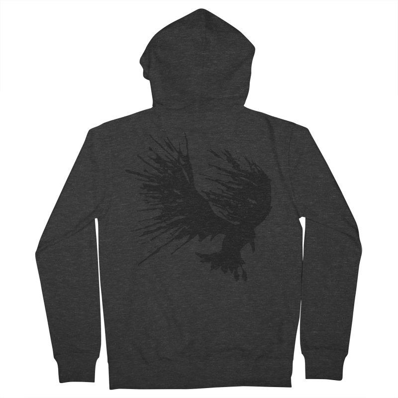 Bird Splatter Black Men's Zip-Up Hoody by Hump
