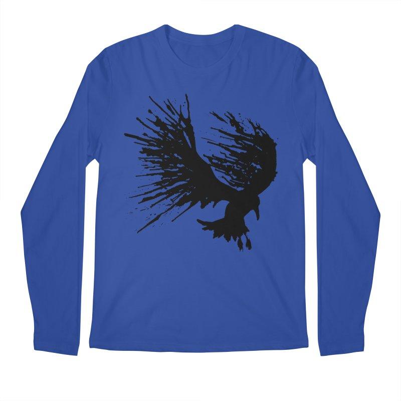 Bird Splatter Black Men's Longsleeve T-Shirt by Hump