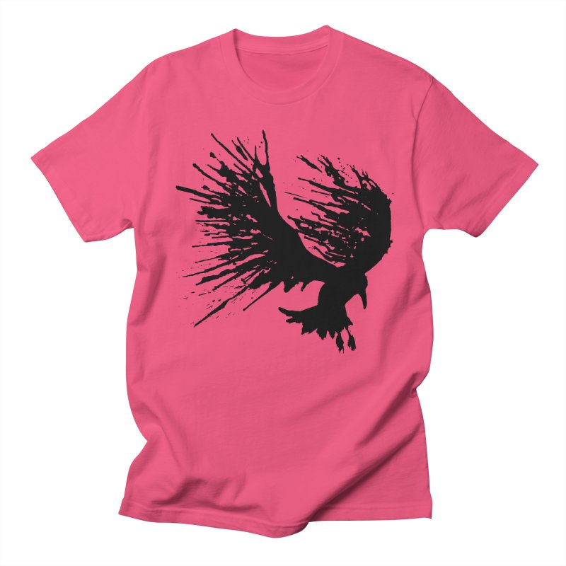 Bird Splatter Black Men's T-Shirt by Hump