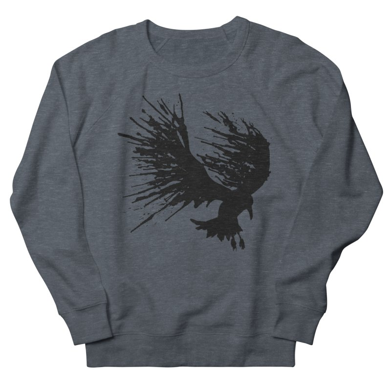 Bird Splatter Black Women's Sweatshirt by Hump