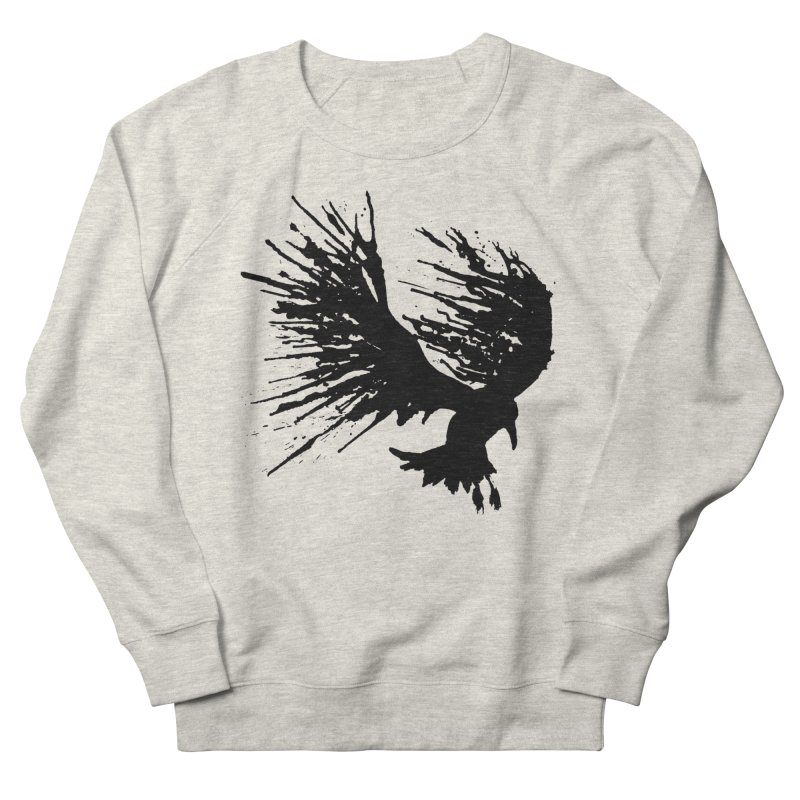 Bird Splatter Black Women's Sweatshirt by Hump