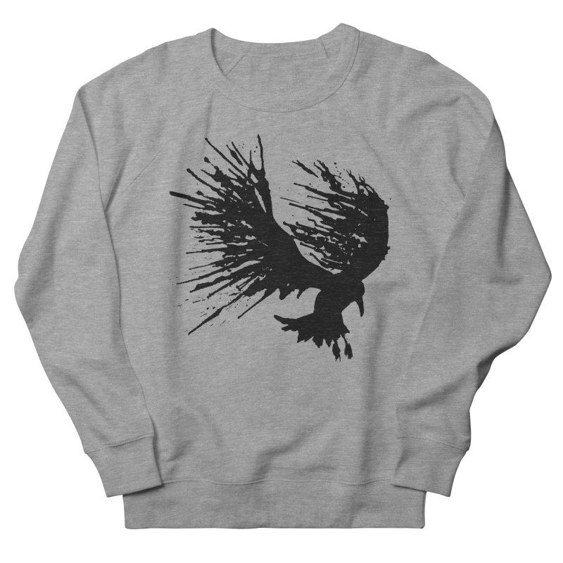 Bird Splatter Black Men's Sweatshirt by Hump