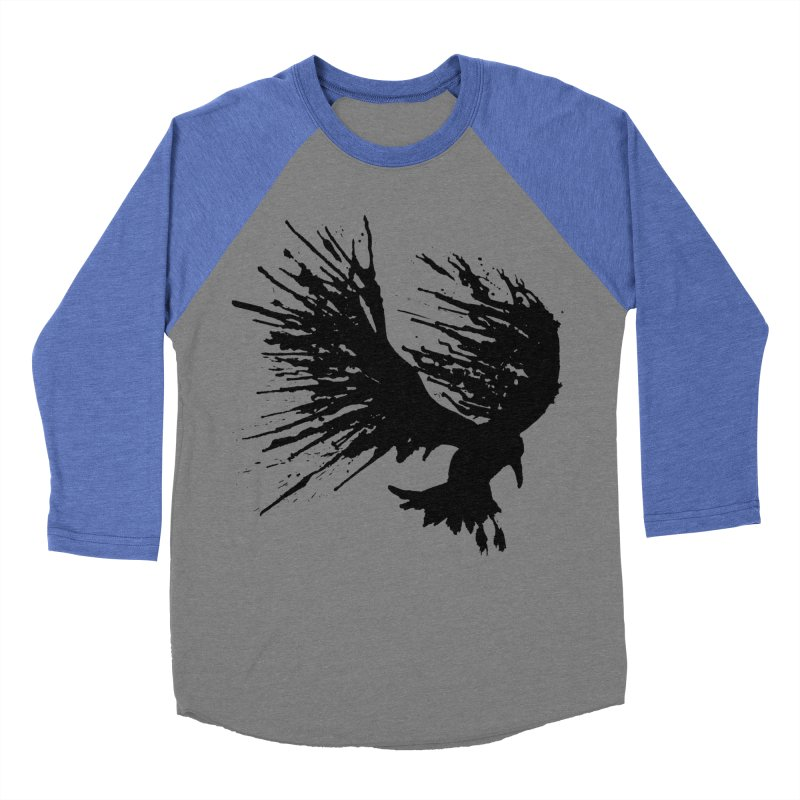 Bird Splatter Black Women's Baseball Triblend T-Shirt by Hump
