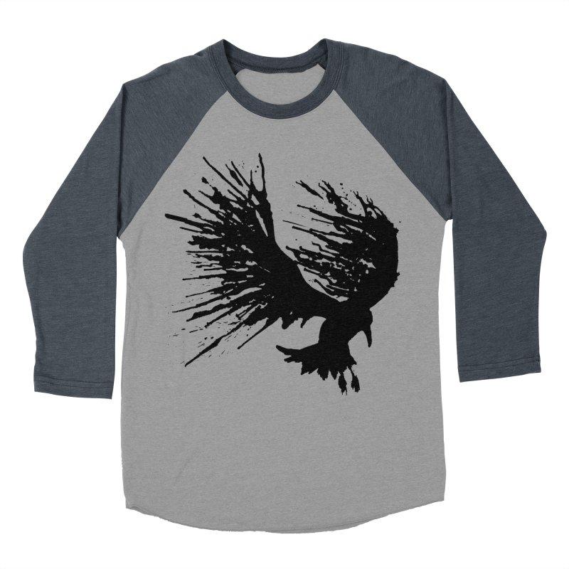 Bird Splatter Black Men's Baseball Triblend T-Shirt by Hump