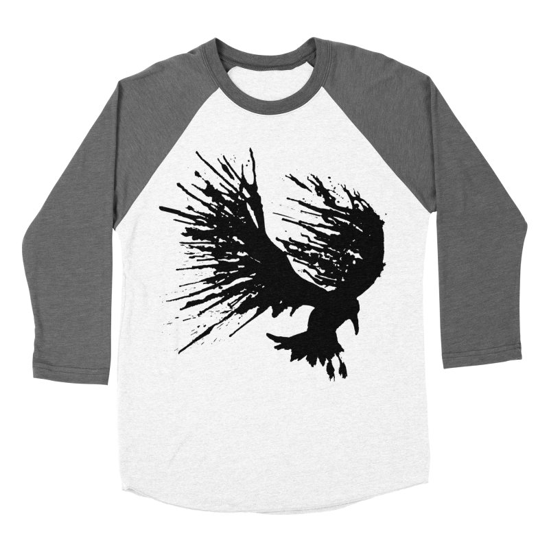 Bird Splatter Black Men's Baseball Triblend T-Shirt by Hump