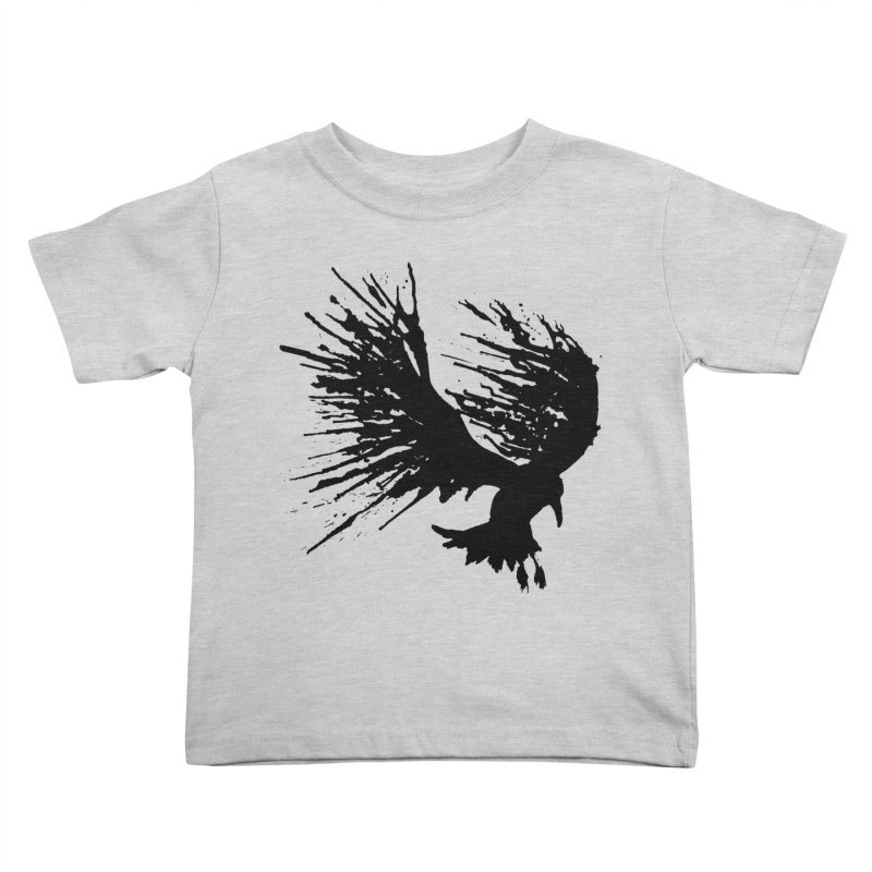 Bird Splatter Black Kids Toddler T-Shirt by Hump