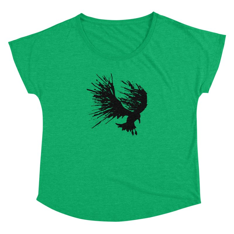 Bird Splatter Black Women's Dolman by Hump