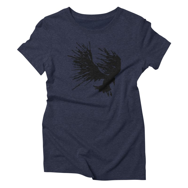 Bird Splatter Black Women's Triblend T-shirt by Hump