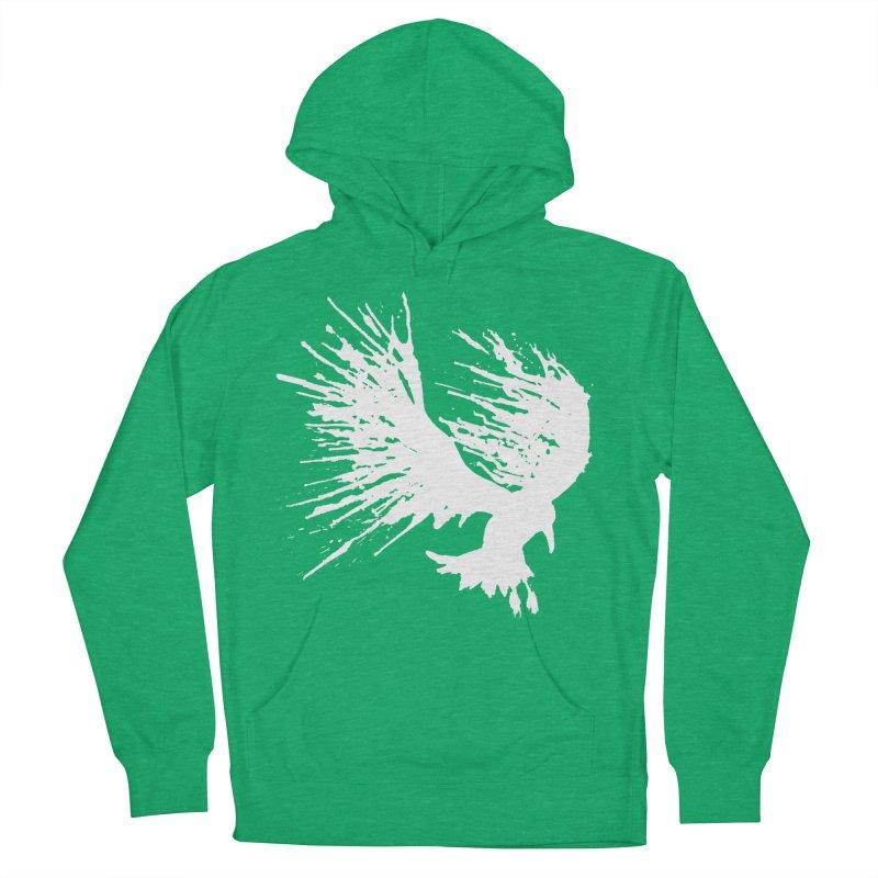 Bird Splatter White Women's Pullover Hoody by Hump