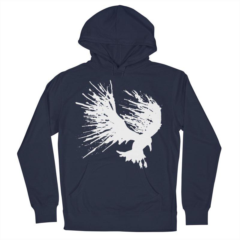 Bird Splatter White Men's Pullover Hoody by Hump
