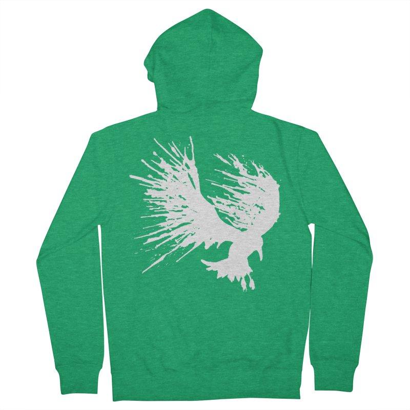 Bird Splatter White Men's Zip-Up Hoody by Hump
