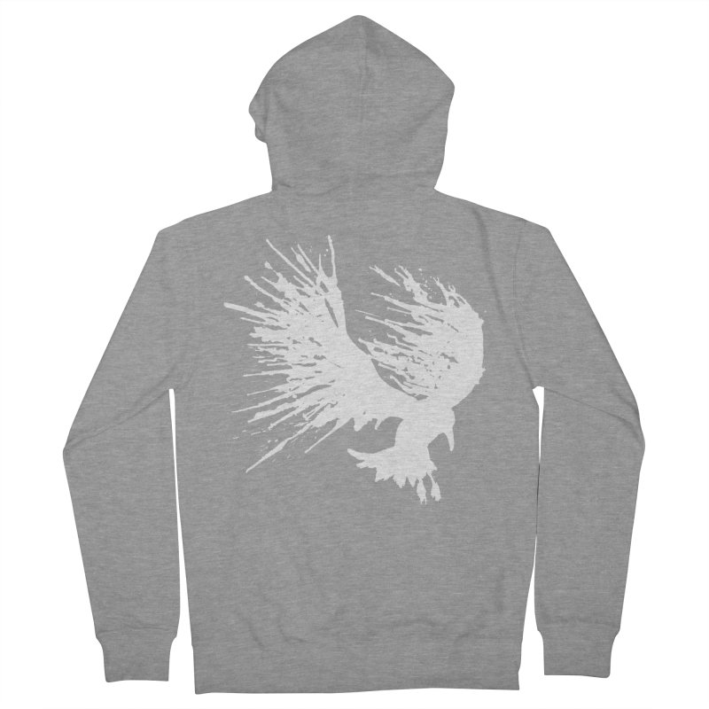 Bird Splatter White Men's Zip-Up Hoody by Hump