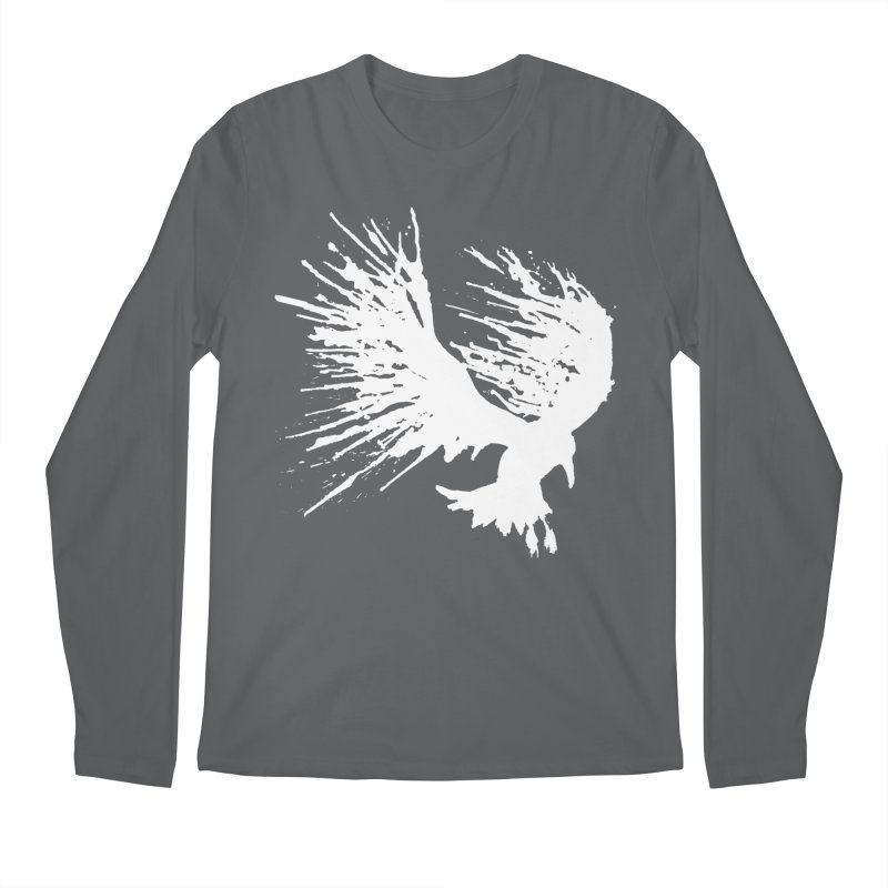 Bird Splatter White Men's Longsleeve T-Shirt by Hump