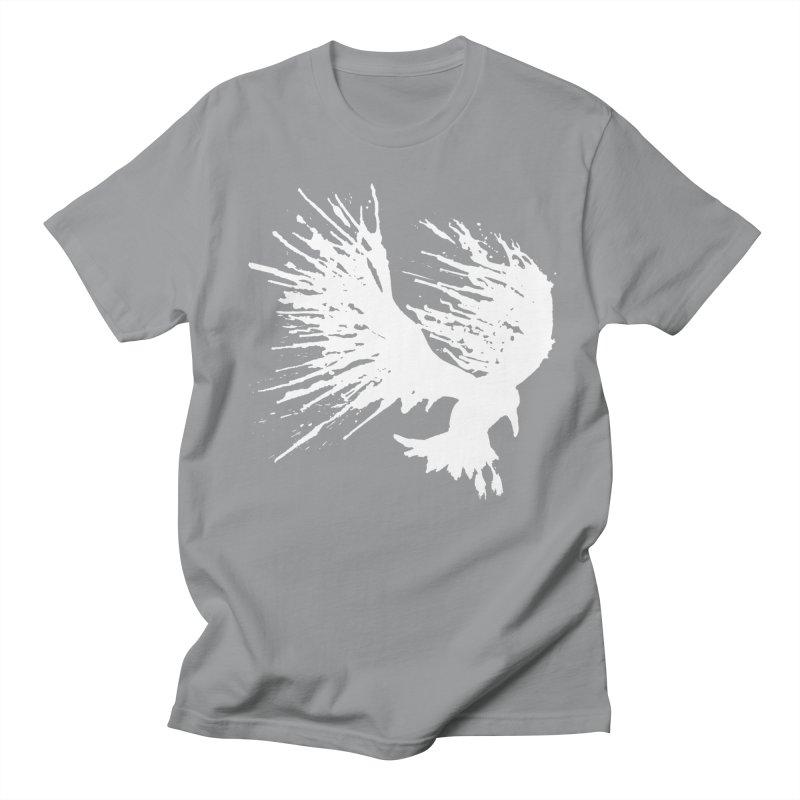 Bird Splatter White Men's T-shirt by Hump