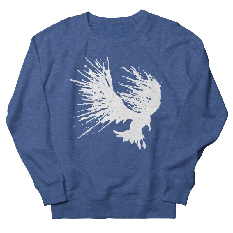 Bird Splatter White Women's Sweatshirt by Hump