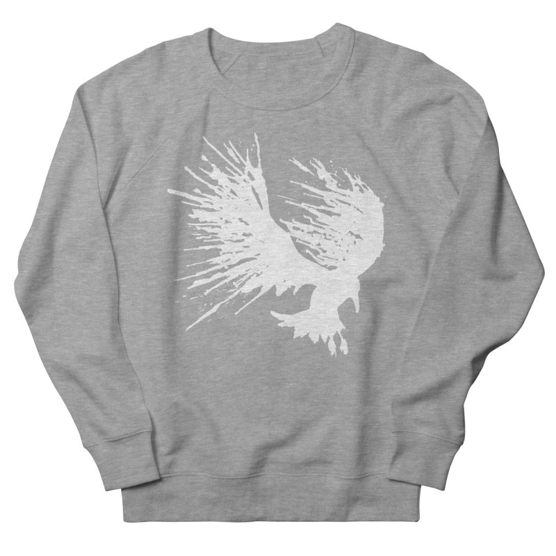 Bird Splatter White Women's Sweatshirt by Hump