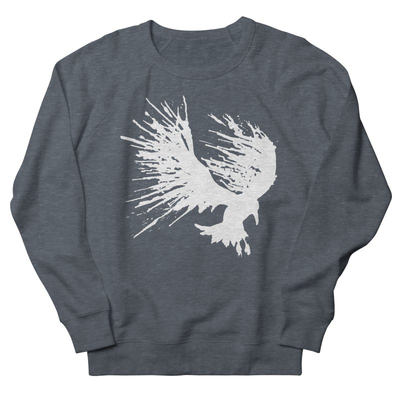 Bird Splatter White Men's Sweatshirt by Hump