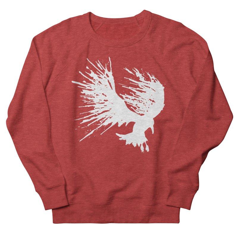 Bird Splatter White Men's Sweatshirt by Hump