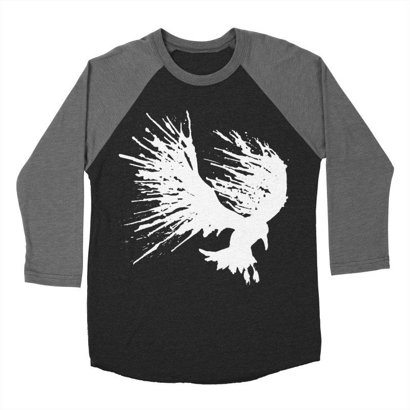 Bird Splatter White Men's Baseball Triblend T-Shirt by Hump