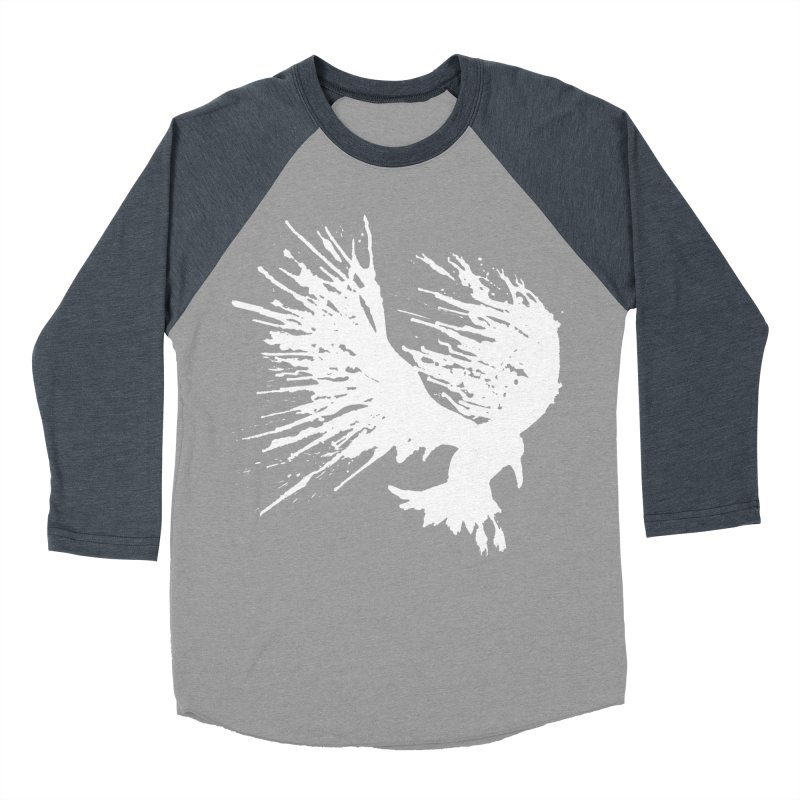 Bird Splatter White Men's Baseball Triblend T-Shirt by Hump
