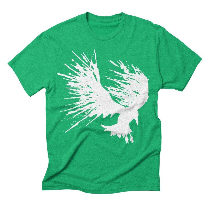 Bird Splatter White Men's Triblend T-shirt by Hump