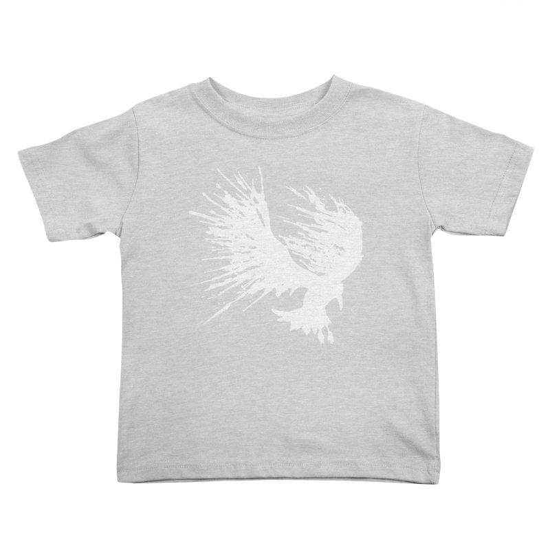 Bird Splatter White Kids Toddler T-Shirt by Hump