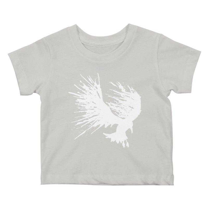 Bird Splatter White Kids Baby T-Shirt by Hump