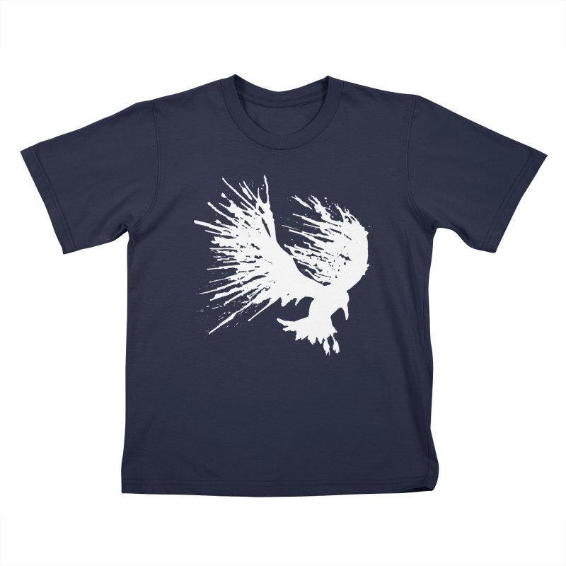 Bird Splatter White Kids T-shirt by Hump
