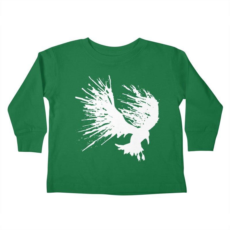Bird Splatter White Kids Toddler Longsleeve T-Shirt by Hump